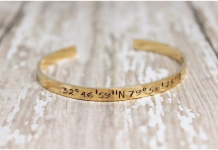 personalized bracelet - Gold coordinate